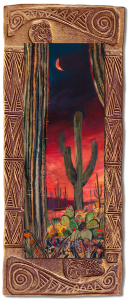 Saguaro Desert I   V/Blooming Desert Collection Art | KenarovART Inc