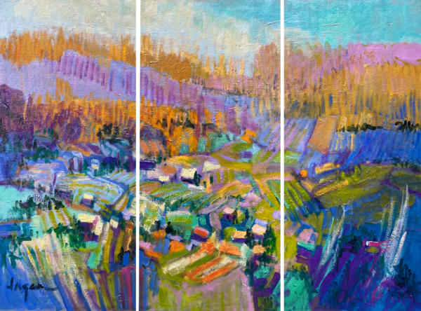 Oversize Landscape Painting, Canvas Print by Dorothy Fagan