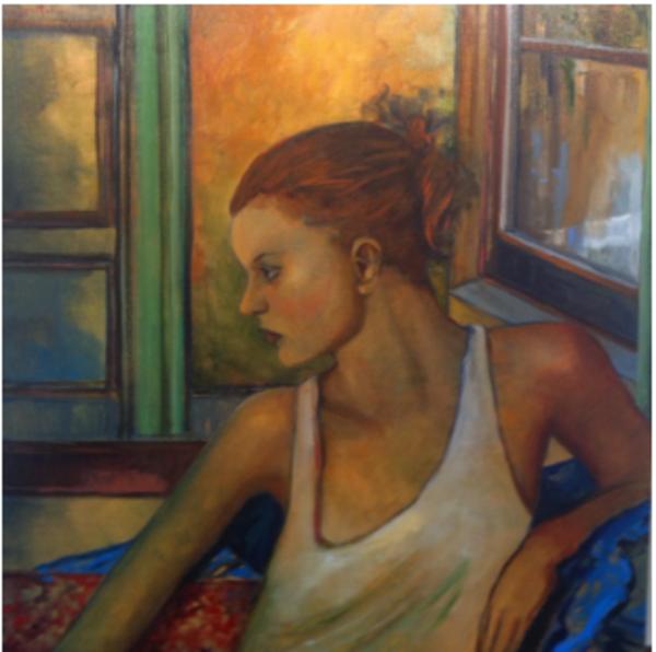 La Joven En La Ventana Art | Ralwins