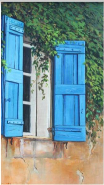 The Blue Window Art | Ralwins
