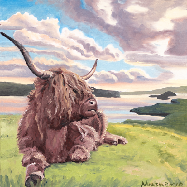 'Highland Cow II' Art for Sale
