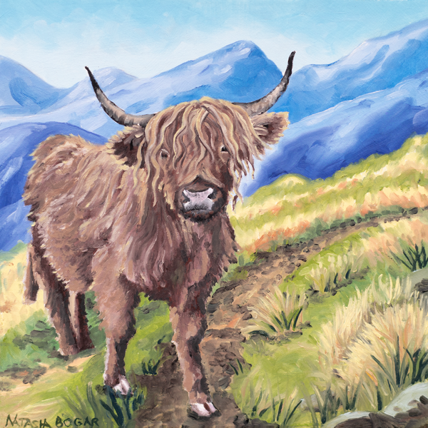 'Highland Cow III' Art for Sale