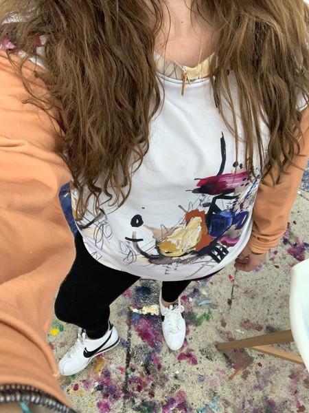 Tan Chandelier Sweatshirt | ashalmonte
