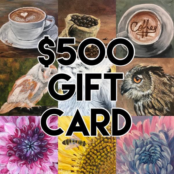 $500 Gift Card | alanajudahart