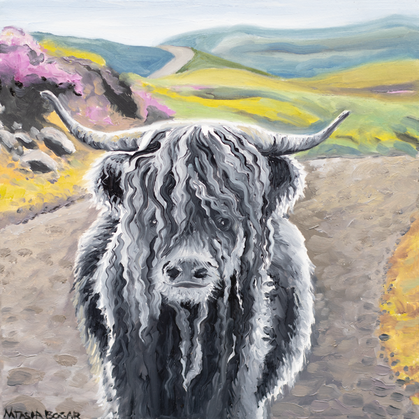 'Highland Cow I' Art for Sale