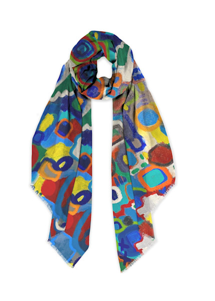 Kaleidoscope Scarf Cashmere Silk | Abstraction Gallery by Brenden