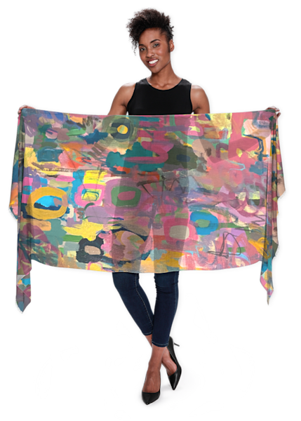 Perfect Imperfection Scarf | Abstraction Gallery by Brenden
