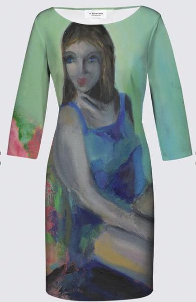 Open Your Eyes JEANNE DRESS designed by artist