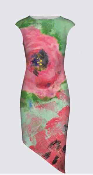 Blooming Flowers FELICIA DRESS designed by artist