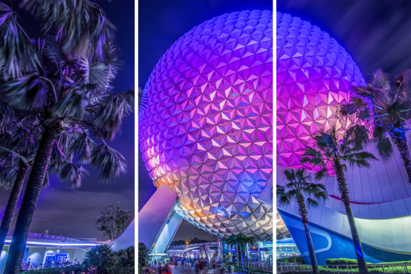 Spaceship Earth At Night 1   Acrylic Panel Art Photography Art | William Drew Photography