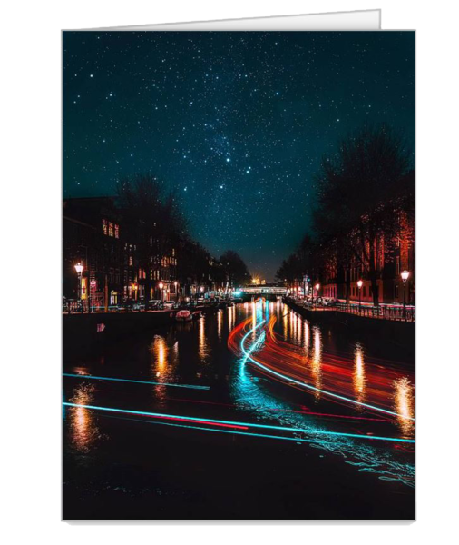 In A Blur Of Lights Notecards   Matej Silecky