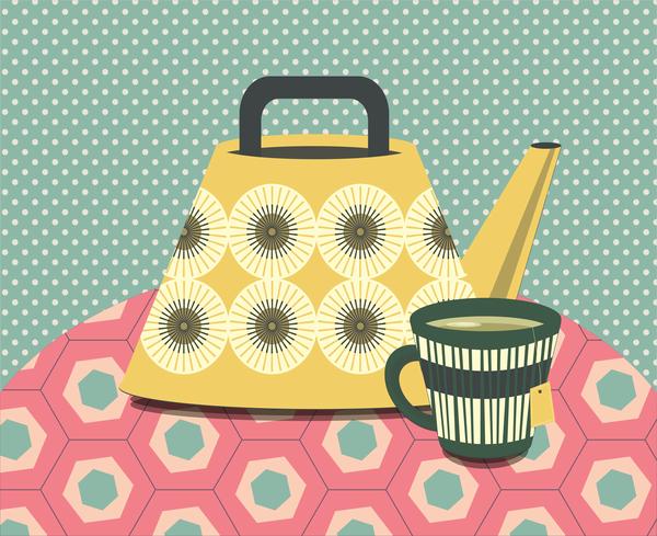 Midcentury Teapot 3 Art | Davida Fernandez Studio