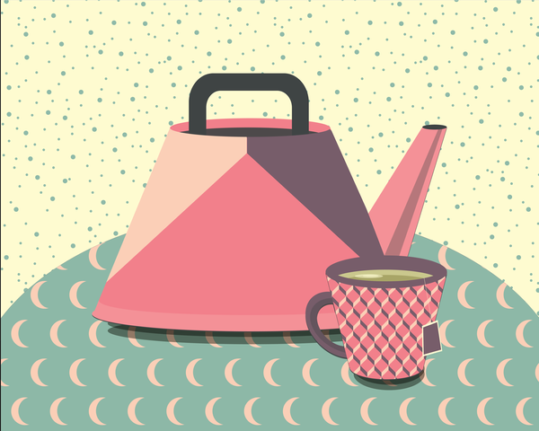 Midcentury Teapot 2 Art | Davida Fernandez Studio