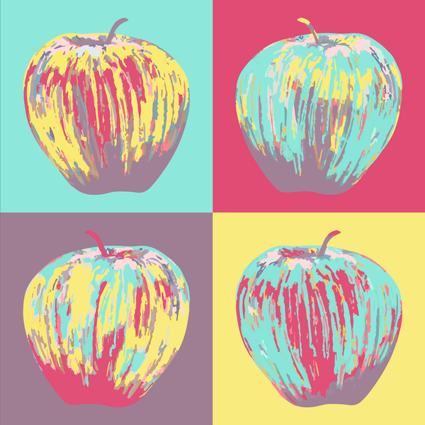 Warhol Apples   Pop Colors Art | Davida Fernandez Studio