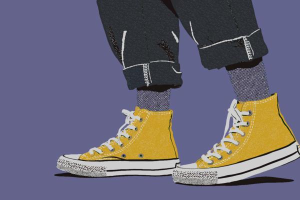 Tokyo Shoes, Moody Background Art   Davida Fernandez Studio