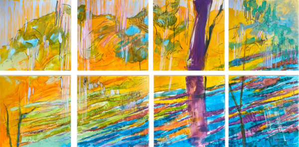 The Crossing 8 Panel Edition Art | Dorothy Fagan Joy's Garden