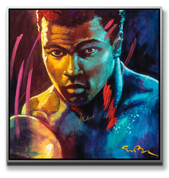 "Simon Bull Available Muhammad Ali Original Mixed Media Painting - ""The Champ XXVIII"""