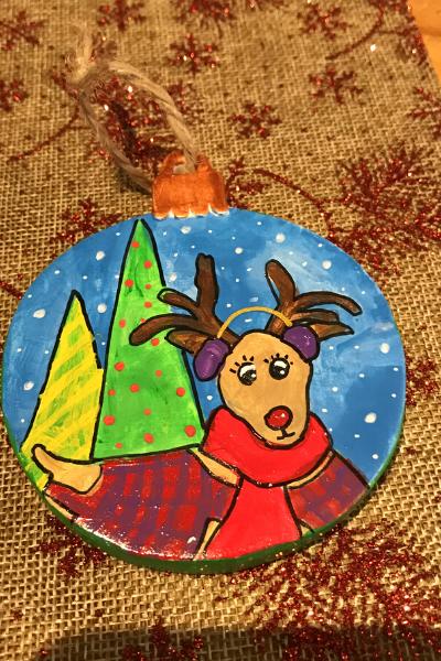 Deer In A Plaid Coat | Karen Bishop Artist