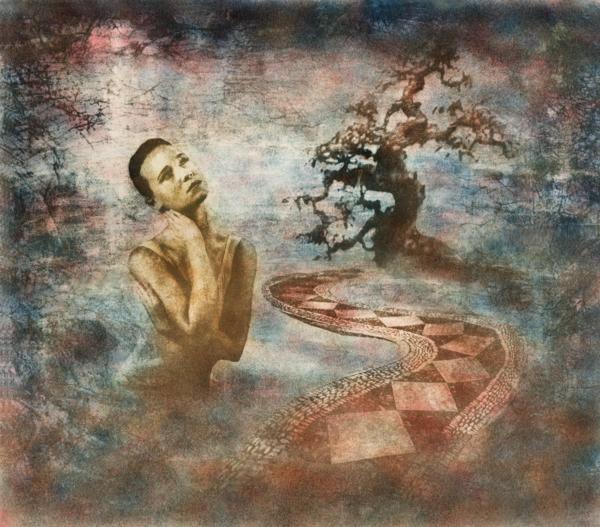 Art Embracing Awareness 1, dreamy surrealistic art