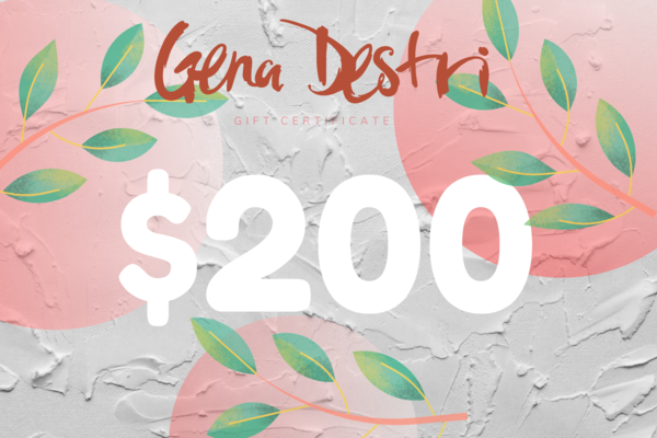 $200 Gift Card   Gena Destri