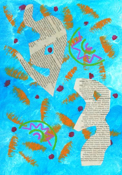 Newsprint Study Art | Off The Edge Art