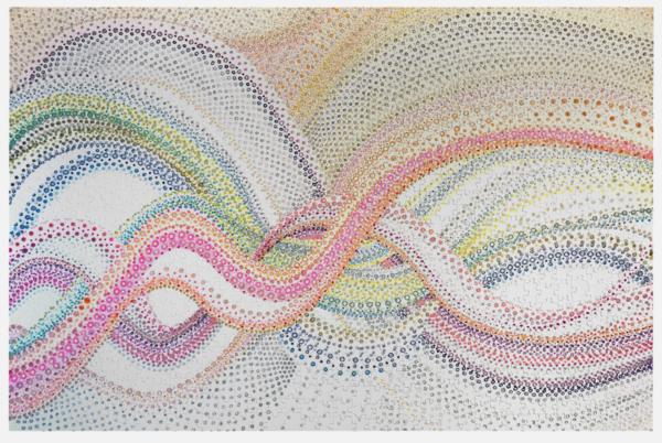 Woven Dots 1   Puzzle | Artist Rachel Goldsmith, LLC
