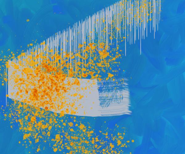 10.20 Digital Painting Blue Art | Glenn McDaniel Arts, LLC