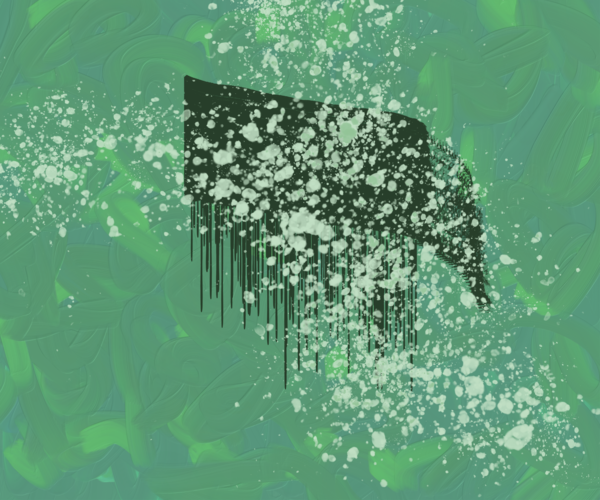 10.20 Digital Painting Green Art | Glenn McDaniel Arts, LLC