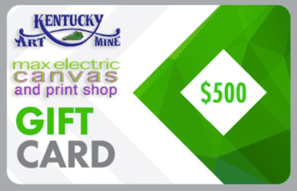 $500 Gift Card | Kentucky Art Mine, LLC