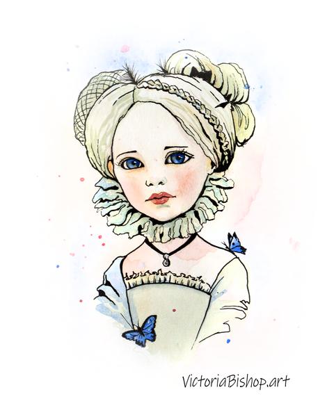 Little Butterfly Queen  Art | victoriabishop.art