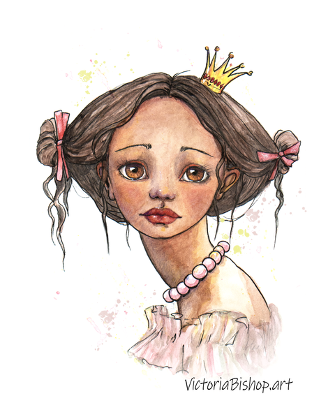 Peach Princess Art | victoriabishop.art