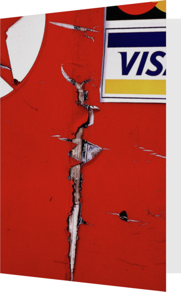 Abstract Red Cracked Gas Pump Greeting Card - Sherry Mills