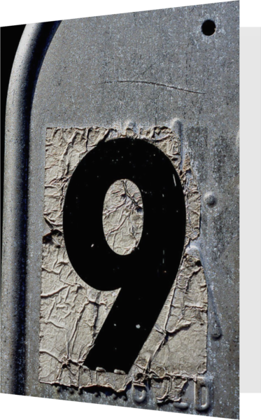 Number Nine Abstract Mailbox Greeting Card - Sherry Mills