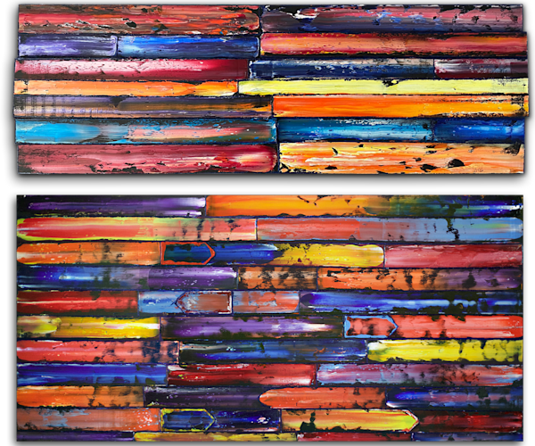 Dynamic Duo large diptych paintings