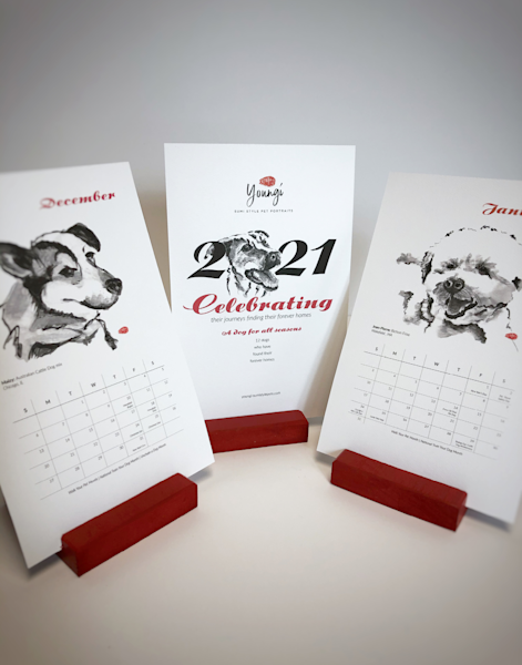 Calendar: A Dog For All Seasons Art | Youngi-Sumistyle pets