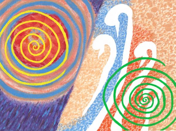 Merch: Spiral Juxtaposition Art | Off The Edge Art