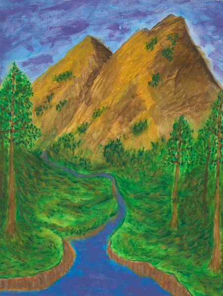 Merch: Mountain Stream Art | Off The Edge Art