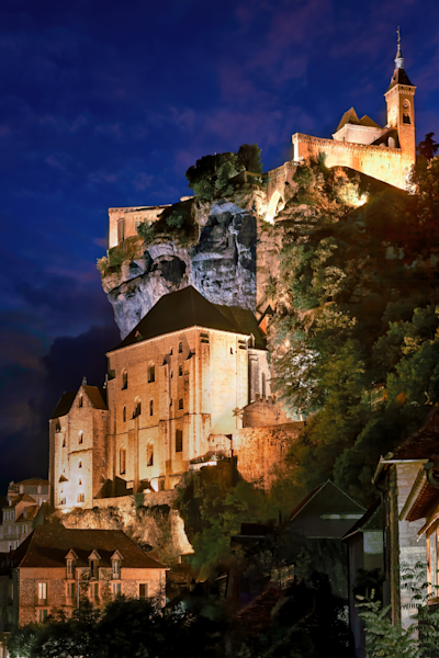Print Art Rocamadour France Middle Age Castle