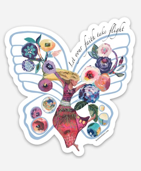 Let Your Faith Take Flight Sticker Art | Kristin Webster Art Studio
