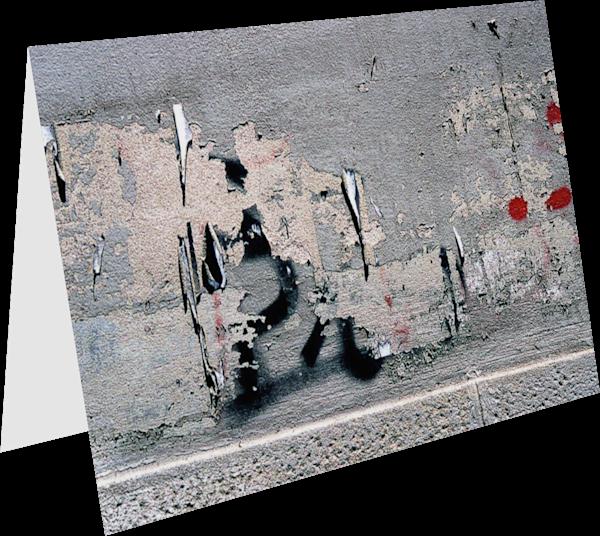 Subtle Graffiti In Florence Fine Art Card - Sherry Mills