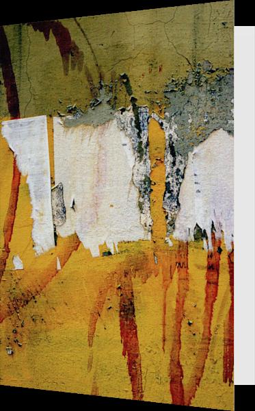 Yellow Abstract Florence Graffiti Art Card - Sherry Mills