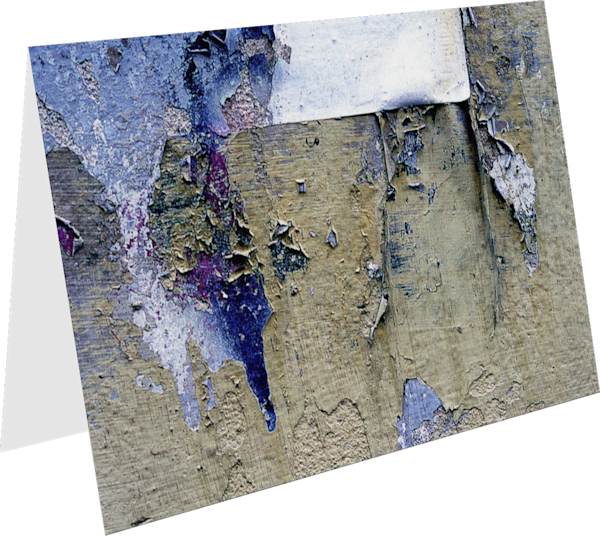 Delicate Peeling Paint Florence Art Card - Sherry Mills