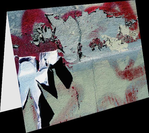 Weathered Italian Wall Fine Art Card - Sherry Mills