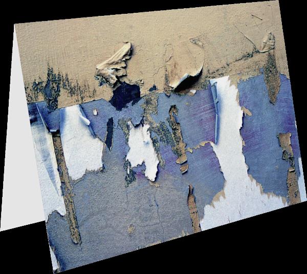 Peeling Blue Wall Abstract Italy Art Card - Sherry Mills