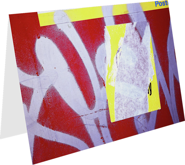 Graffiti Abstract Yellow Red Italy Art Card - Sherry Mills