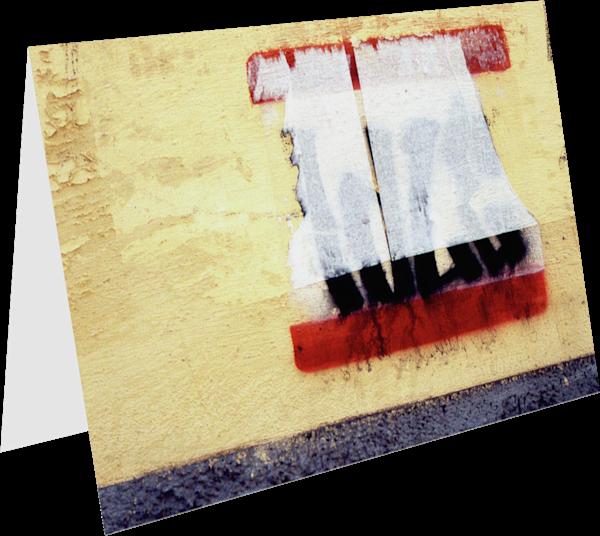 Minimalist Abstract Italy Graffiti Art Card - Sherry Mills