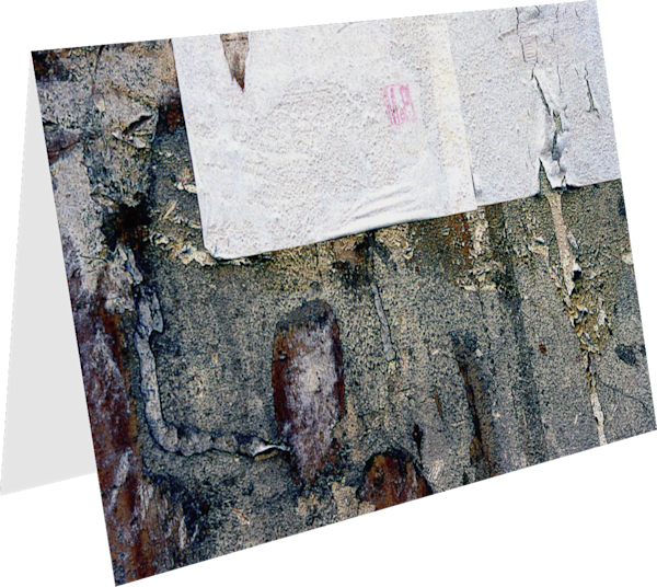Weathered Florence Wall Abstract Art Card - Sherry Mills