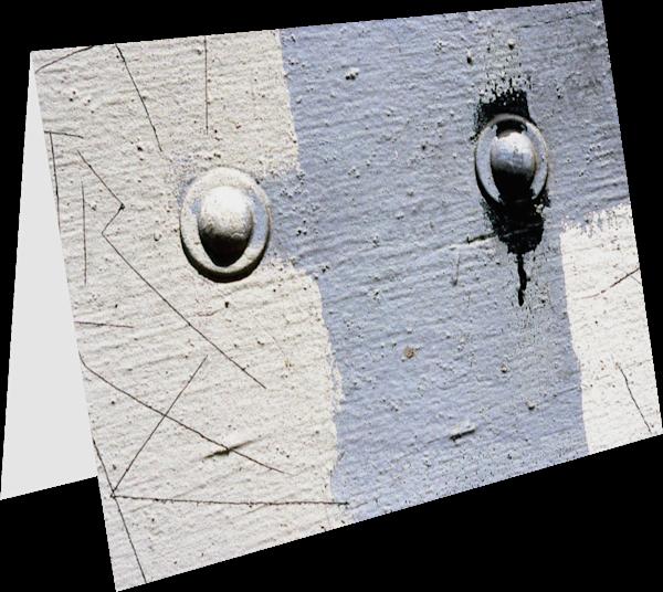Minimalist Abstract Blue LA Greeting Card - Sherry Mills