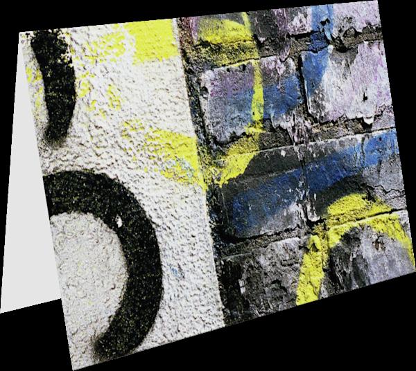 Abstract Manhattan Brick Wall Fine Art Card - Sherry Mills