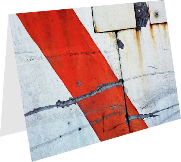 Abstract Red Stripe NYC Greeting Card – Sherry Mills